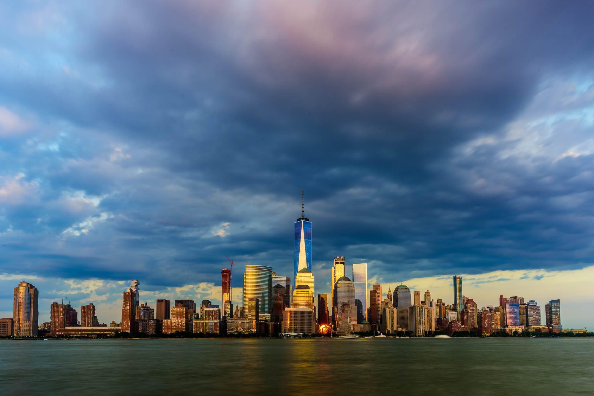 Storm sky over NYC